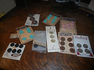 Vintage Lot of Buttons on Original Display Cards
