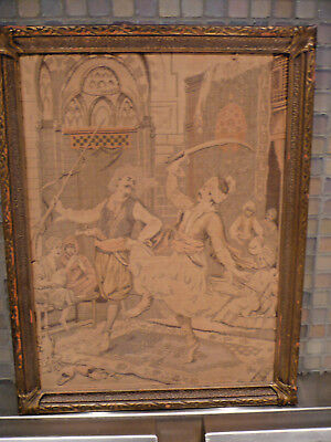 Antique French Tapestry - Arabian Nights Beautiful Carved Wood Gesso Gilt Frame