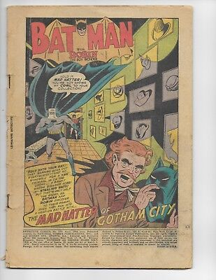 Detective Comics 230 - Coverless - 1St Appearance Of The Mad Hatter (1956)