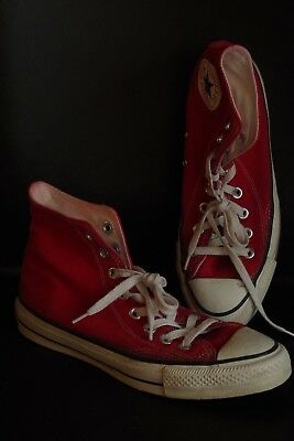Vintage VTG 80s CONVERSE Chuck Taylor All Star RED CANVAS Extra Stitch