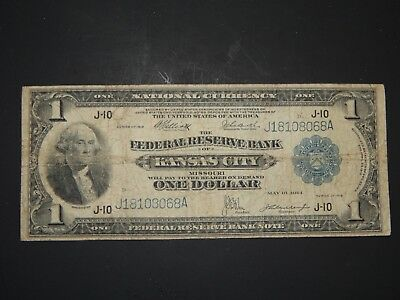 """One Dollar """"Kansas City"""" Federal Reserve Large Note, Series of 1918"""