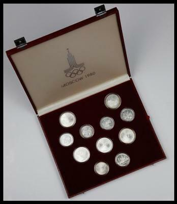 1980 Moscow Olympic Games Silver 28 Coin Set with Album