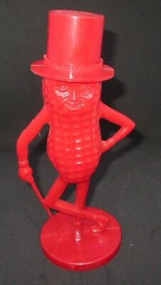 Vintage Toy Plastic Red Planters Mr Peanut Bank Made In Usa Planters Nuts