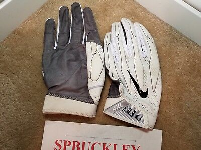 official photos 1f16d 64d78 Nike Superbad 4 Adult 4Xl High-Impact Skill Position Football Gloves,  White, Nfl