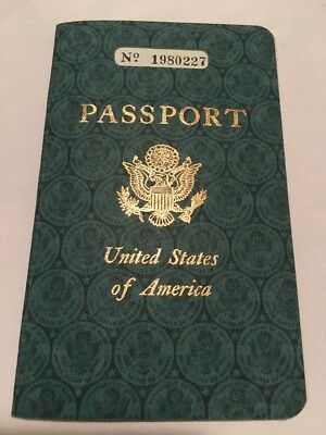 Issued 1960 canceled 1973 USA United States of America Passport expired