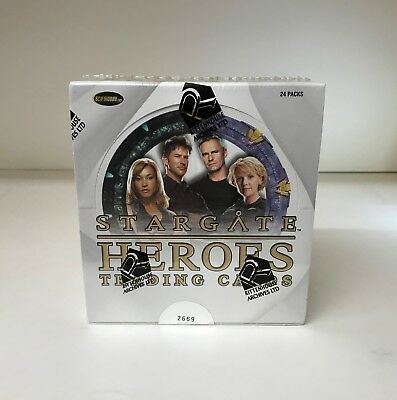 Stargate Heroes - Sealed Trading Card Hobby Box - 24 Packs, Rittenhouse 2009