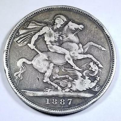 Great Britain 1887 Victoria Silver Crown 28.28 Grams KM 765 Nice