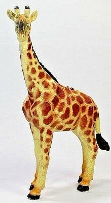 "GIRAFFE 7"" Plastic / Rubber Toy Figure w Battery Makes Sound / Noise"