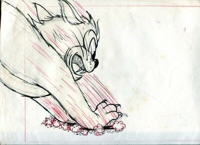 Fleischer Animator Gordon Sheehan Tom Thumb in King Arthur's Court cat drawing