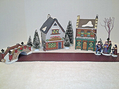 "DEPT. 56 DICKENS' VILLAGE ""START A TRADITION SET"" PLUS EXTRAS- 14 piece set"