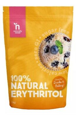 ✅Naturally Sweet Erythritol - 1kg Pouch - Natural Sweetener - Zero GI