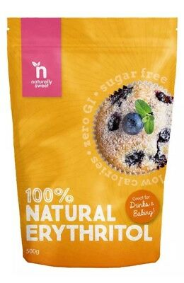 ✅Naturally Sweet Erythritol - 500g Pouch - Natural Sweetener - Zero GI