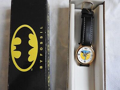 Original, Collectible, 1989 Batman Watch, Made by Fossil