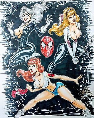 SEXY PIN-UP COMMISSION ART BY CAMERON BLAKEY (any character)