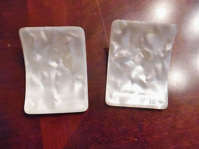 Vintage Pair French Shoe Clips,mother Pearl
