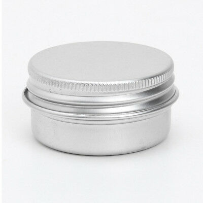 20 x Empty Cosmetics Pot Lip Balm Aluminum Jar Container Screw Cap 50ml V4DT