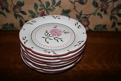 Vintage Colonial Rose By Stangl-Set Of 4 Dinner Plates
