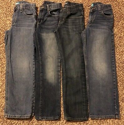 Lot Of Four Pair Boys Size 10 Reg Jeans Old Navy Gap Kids Levis