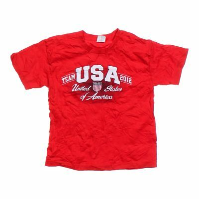 United States Olympic Committee Boys 2012 Team USA Tee, size 10,  red,  cotton