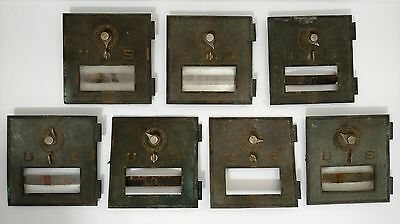 """Lot of 7 - #2 1906 US POST OFFICE BOX DOORS Antique for PARTS OR REPAIR 6"""" x 6"""""""