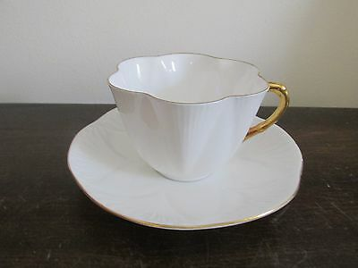 SHELLEY Bone China England Dainty Regency Pattern Cup And Saucer White