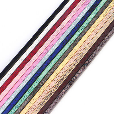 1meter 3mm Shining Faux Leather Cord Wire Jewelry Making Findings Thread String