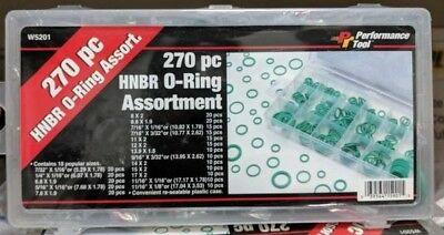 Wilmar W5201 270 Piece Hnbr O-Ring Assortment