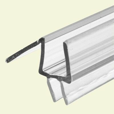 Glass Door Bottom Seal, Prime-Line Clear Vinyl Fits 3/8 in. Thick Glass 36 in. L