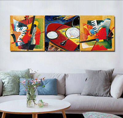 """Abstract Musical-Nordic Home Decor Modern Art Prints Canvas Painting 16x16""""x3pc"""