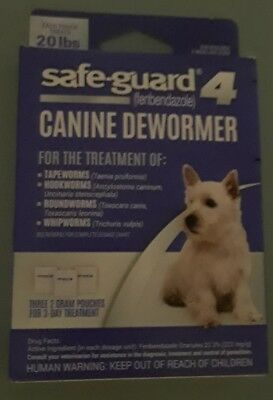 Safe Guard Canine Dewormer Fenbendazole 3 - 2 gram Pouches Treats 20 lbs