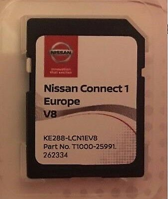Genuine Nissan Connect 1 Latest Sat Nav  Lcn1 Sd Card V8 2017 / 2018 Maps ..
