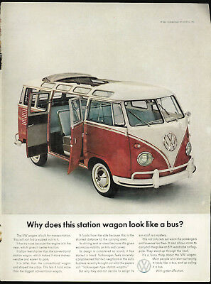 1961 Volkswagen Why Does This Station Wagon Look Like A Bus? Vintage Print Ad
