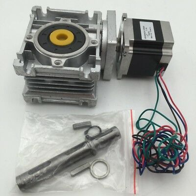 Nema23 Worm Gearbox Stepper Motor L56mm 7.5:1 Speed Reducer 8.25Nm 3A CNC Router