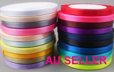 20 yards 6mm Satin Ribbon Wedding wrap hair bow tie cake Party favour Decor bulk