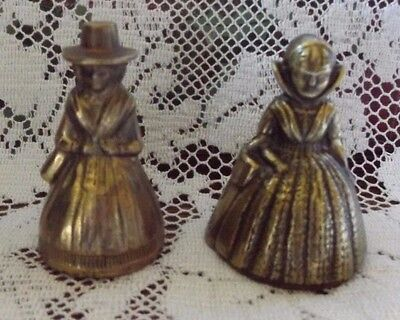 Vintage Brass Lady Bells (2)