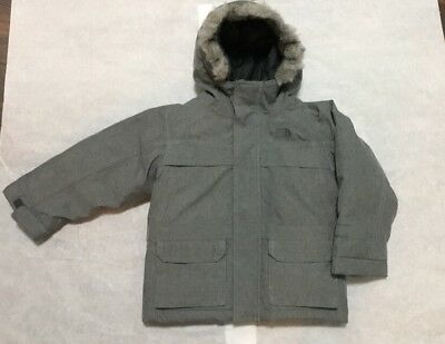 NEW The North Face 550 Greenland Down Hooded Parka Winter Jacket Coat 3T Gray