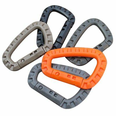 5Pcs Buckle Key Chain D-Ring Snap Plastic Clip Hook Outdoor Carabiner Camping