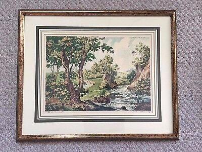 Vintage Paris Etching Society PENCIL SIGNED PAUL EMILE LeCOMTE 109 Forest Stream