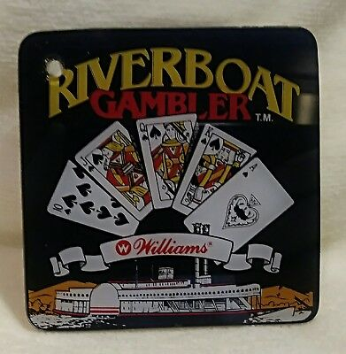 Riverboat Pinball Gambler Promo Plastic Key Chain by Williams