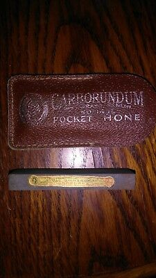 "Vintage Carborundum 3"" Knife Sharpening Stone No. 149L Pocket Hone"