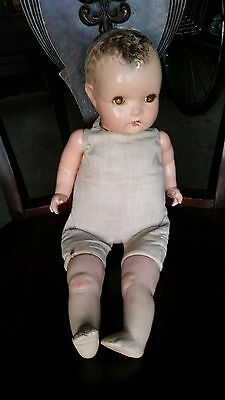 """Vintage Antique Horsman """"A"""" Baby Composition Doll 20"""" Tall"""
