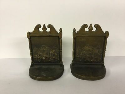 Antique Bradley and Hubbard Bookends Bronze B&H House Cape Ann Architecture
