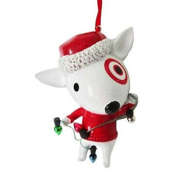 2017 Target Bullseye Dog Christmas Ornament NWT
