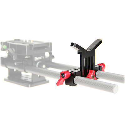CAMVATE Lens Support Mount Height Adjustable for 15mm Rod System Follow Focus