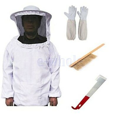 Beekeeping Veil Suit Smock, Hive Frame Holder, Gants, Bee Brush Tool Equip HZ