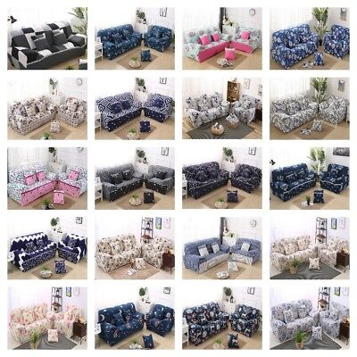 Stretch Lounge Sofa Couch Covers Slipcover 1 2 3 4 Seater Washable Dining Chair