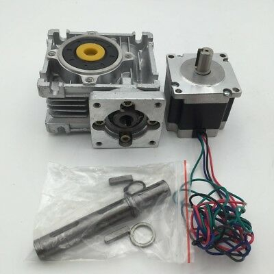 25:1 Worm Geared Redcer Nema23 L76mm Stepper Motor 3A 45Nm Max. CNC Kit Router