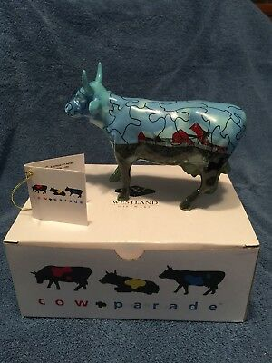 Puzzled Cow Ceramic Figurine - Cows on Parade #9181 - Original Packaging