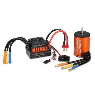 GoolRC 3650 4300KV Brushless Motor with 60A ESC Set for 1/10 RC Car Truck L2P8