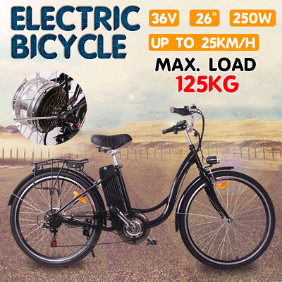 EBIKE 250W Electric City Bicycle Cycle Shimano Lithium Battery 36V Scooter Tour